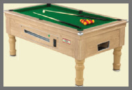 New Coin Operated Pool Tables